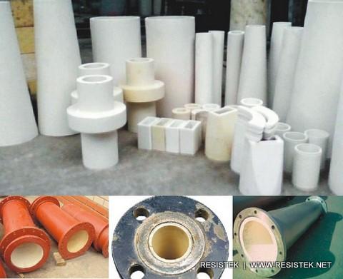 Ceramic Lining Pipe Amp Ceramic Lining Cylinder Resistek